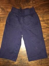 sz 12 m Circo navy blue pants elastic waist pockets Vguc