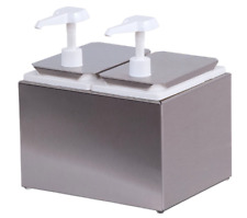 Carlisle Stainless Steel Condiment Container 2.5 Quarts Double Standard Pump NEW