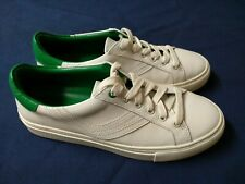 3bc2cb6cc6f9 Tory Burch Sport Chevron Fashion Sneakers Lace Up White Leather Womens Sz  7.5