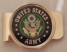 US ARMY INSIGNIA MONEY CLIP - CHROME PLATED METAL!!