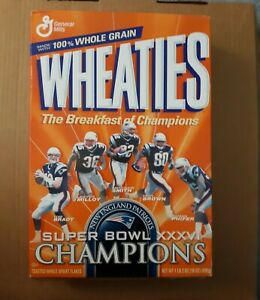 New England Patriots Super Bowl XXXVI Champions Wheaties Box