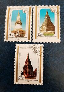 Laos - 1989 Temples - art - architecture - O