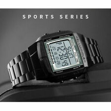Reloj de Pulsera alarma Deportivo Reloj SKMEI Hombre Mujer Digital LED Impermeable Negro UK