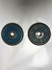 """WoH 1"""" Cast Iron Weight Plates for Standard 1 Inch Barbells & Dumbbell Bars Gym"""