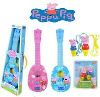 Peppa pig Gift acoustic 4 string guitar Whistle Musical toy for Kids Xmas