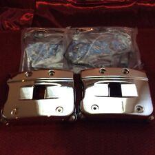 Harley davidson chrome evo rocker boX set 84-99 big twin w/gasket softail dyna