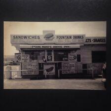 Broken Arrow Oklahoma Franks Drive Inn Postcard