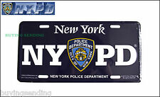 OFFICIAL BLUE NYPD METAL LICENCE PLATE NEW YORK CITY POLICE DEPT NUMBER CAP SIGN