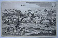 Kufstein Tirol Österreich Gesamtansicht Merian 1650 kräftiger Abdruck