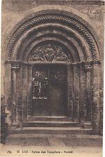 65 - cpa - LUZ - Portail de l'église des Templiers
