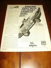 1967 AMC REBEL SST RACE CAR - BARDAHL  ***ORIGINAL AD***