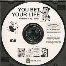 YOU BET YOUR LIFE - 189 Shows Old Time Radio MP3 Format OTR 1 DVD   GROUCHO MARX