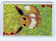 POKEMON MINI Carte JAPANESE 45X65 1999 PLAY CARD N° 7♦ EEVEE EVOLI