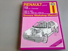Renault 19 & Chamade Workshop Manual