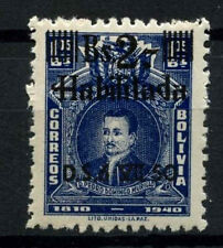 Bolivia 1950 SG#492, 2b On 1b05 Blue MNH #D35328