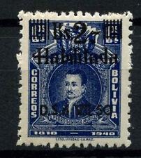 Bolivia 1950 SG#492, 2b On 1b05 Blue MNH #D35328