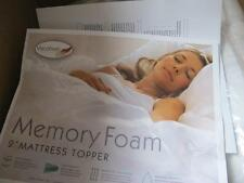 SLEEP STUDIO 2 INCH VENTILATED FOAM FULL BED MATTRESS TOPPER PAD AND COVER