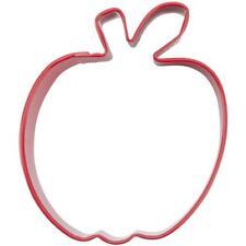 "NEW WILTON APPLE 3"" COOKIE CUTTER RED METAL TEACHER FRUIT FOOD 2308-1317"