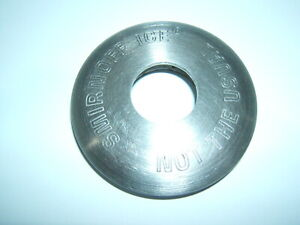 SMIRNOFF ICE NOT THE USUAL SATIN STAINLESS STEEL ROUND PALM METAL BOTTLE OPENER