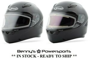GMAX FF49 Snow Full Face Helmet Double Lens Shield or Electric Shield Black