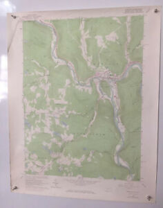 "Hancock, Pennsylvania-New York 1965 Original Vintage USGS Topo Map 22"" x 27"""