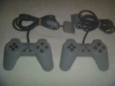 Official OEM Sony Playstation 1 PS1 Psone Controller Set Lot of 2 Gray SCPH-1080