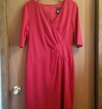 Slimming Red Faux Wrap Ruched Dress