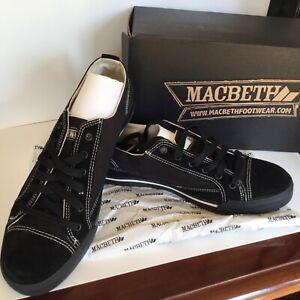 NEW RARE MACBETH MATTHEW BLACK/BLACK SUEDE CANVAS MENS SHOES SIZE 8/10/11/12