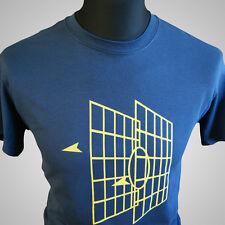 Millenium Falcon Battle Graphics Retro Movie T Shirt Sci Fi Star Wars