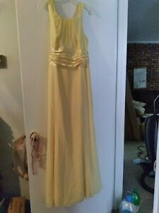 David's Bridal Yellow Bridesmaid Dress Size 16