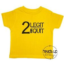 2nd Birthday Shirt Toddler Boy/Girl - Two Legit to Quit 2 Legit 2 Quit Bday Tee