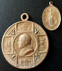 2 LOT Religious Medals 1923 POPE XI / VIRGIN silver VERY INTERESTING! NICE!