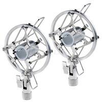 2*Condenser Microphone Shock Mountsmic SHOCKMOUNT Dynamic Studio Holders