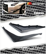 Carbon Fiber Front Bumper K Style Side Canards for 2012-2015 Nissan GT-R R35 DBA