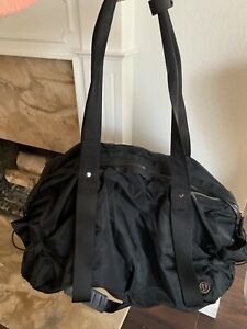 LULULEMON Black Nylon Duffel/Gym Bag