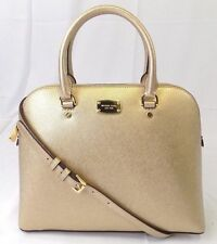 f8d3a1e94a2d Michael Michael Kors Cindy Large Dome Pale Gold Saffiano Leather Satchel Bag