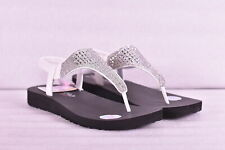 Women's Skechers Meditation - Rock Crown T Strap Sandals, White, 8M