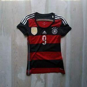 Schurle Germany Team Jersey Away shirt 2014 - 2015 Adidas AC1804 Woman SZ S