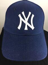 New York Yankees MLB Baseball Cap Blue One Size Hook and Loop Adjustable