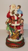 Beautiful Large Santa Music Polyresin Figurine Christmas Centerpiece