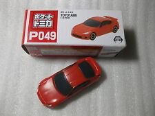 Toyota 86 Red Pocket Tomica P049 Tomy Taito Nib