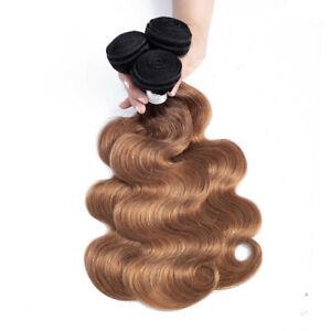 Ombre Brazilian Body Wave Human Hair Weave 3 Bundles Deal 1B/30 Color human hair
