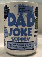 Dad Jokes Cup Mug Blue White