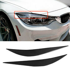 FOR 2014-18 BMW F80 M3 F82 F83 M4 CARBON FIBER HEADLIGHT EYE LID COVER EYEBROWS