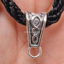 50pcs Tibetan Silver bails Bail Connector Bead Fit Bracelet necklace 15mm B3472