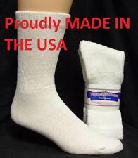 WHITE DIABETIC SOCKS CREW SOCKS PHYSICIANS CHOICE, SIZE 9-11