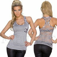 New Sexy Sleeveless Lace Top Singlet Shirt Casual Party Soft Size 6 8 10 XS S M