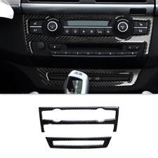 Carbon Fiber Central Air Conditioner CD Panel Cover Trim For BMW X5 E70 2008-13