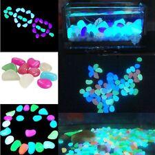 Beauty 10pcs Pebble Stone Luminous Artificial Fish Tank Aquarium Decoration