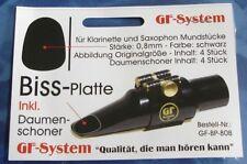 BISS-PLATTE  SCHWARZ  G737002  MIT DAUMENPOLSTER  FÜR  SAXOPHON  U.  KLARINETTE